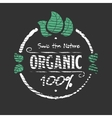 Organic food engraved icon vector image vector image