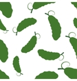 Pattern Silhouette Cucumber vector image vector image