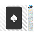 peaks playing card flat icon with bonus vector image vector image