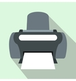 Photo printer icon flat style vector image vector image