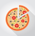 Pizza piece colored Icon vector image