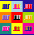 radiator sign pop-art style colorful vector image vector image
