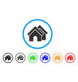real estate rounded icon vector image