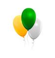 realistic air gel balloon vector image vector image