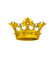 realistic icon of medieval golden crown with vector image