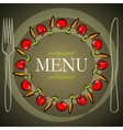 restaurant menu design with tomatoes and carrots vector image vector image