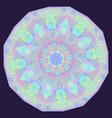 round iridescent geometric background vector image vector image