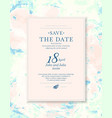 save date an invitation to a wedding vector image