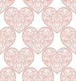 seamless pattern with decorative hearts vector image