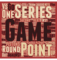 Second Round Should be an Instant Classic text vector image vector image
