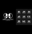set anniversary logotype modern anniversary vector image
