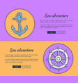 set of advertising banners for sea adventures vector image vector image