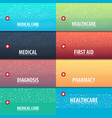 set of medical banners health care vector image