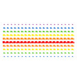 shipment van shape halftone spectrum pattern vector image