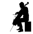 silhouettes a musician playing the cello on a vector image vector image
