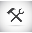 Simple tools icon wrench and hammer vector image vector image