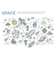 Space Horizontal Concept vector image vector image