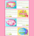 spring sale best offer set vector image vector image