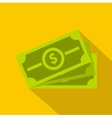 Stack of dollar bills icon flat style vector image