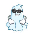 super cool cute ghost character cartoon vector image