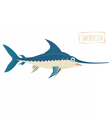 Swordfish cartoon vector image vector image