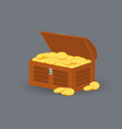 treasure box full of gold coins vector image
