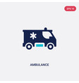 two color ambulance icon from army concept vector image