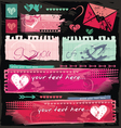 valentine site banners vector image