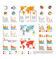 infographics and analytics diagram and charts vector image
