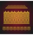set of seamless arabic ornate borders vector image