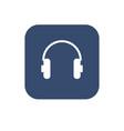 headphone icon flat ui design vector image