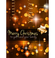 2015 Christmas Golden Background vector image vector image
