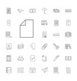 33 paper icons vector image vector image