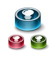 3d glossy idea web icon vector image vector image