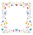 abstract art cute frame vector image vector image