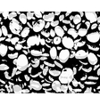 Abstract black and white background with ovals vector image vector image