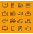 Advertisement and marketing line icons set vector image
