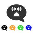 afraid smiley message icon vector image