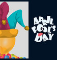 april fools day hat joker balloons celebration vector image vector image