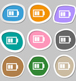 Battery half level sign icon Low electricity vector image