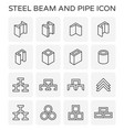beam pipe icon vector image vector image