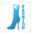 Beauty and fashion icon with shoe and face vector image vector image