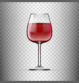 big reds wine empty glass with wine vector image vector image