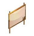 blank wood board icon isometric style vector image