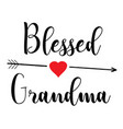 blessed grandma vector image