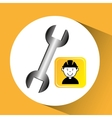 Construction worker wrench tool graphic