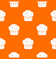 cupcake pattern seamless vector image vector image