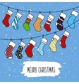 Cute cartoon on the theme of merry vector image vector image
