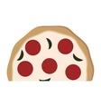 delicious pizza italian icon vector image