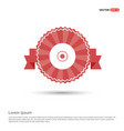 disc icon - red ribbon banner vector image